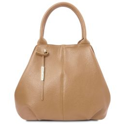 TL Bag Sac shopping en cuir souple Champagne TL142005