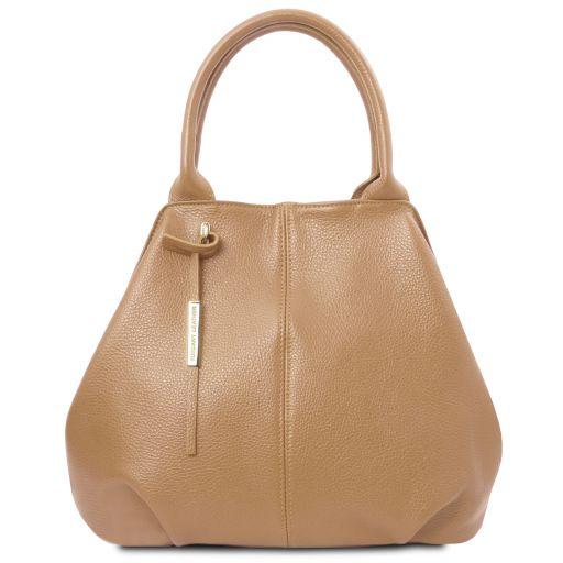 TL Bag Bolso shopping en piel suave Champagne TL142005