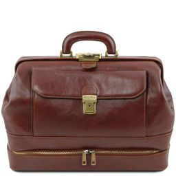 Giotto Exclusive double-bottom leather doctor bag Brown TL142071