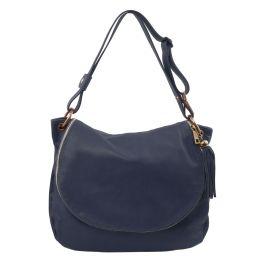 TL Bag Borsa morbida a tracolla con nappa Blu scuro TL141110