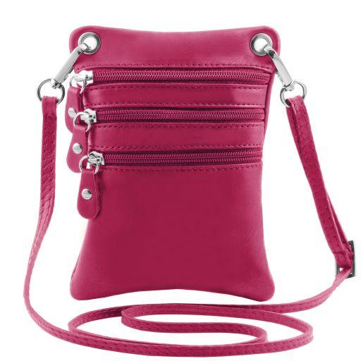 TL Bag Soft leather mini cross bag Fucsia TL141368