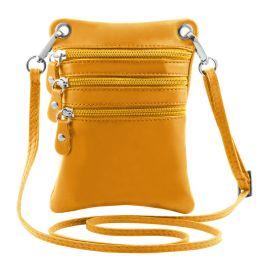 TL Bag Sac bandoulière en cuir souple Jaune TL141368