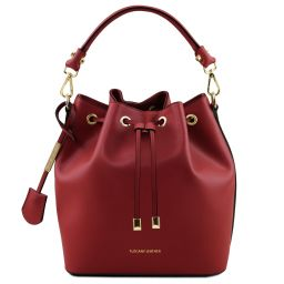 Vittoria Leather secchiello bag Красный TL141531