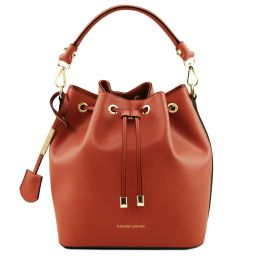 Vittoria Leather bucket bag Brandy TL141531