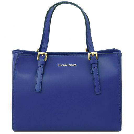 Aura Leather handbag Blue TL141434