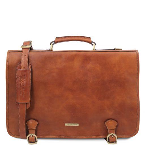 Ancona Messenger Tasche aus Leder Natural TL142073