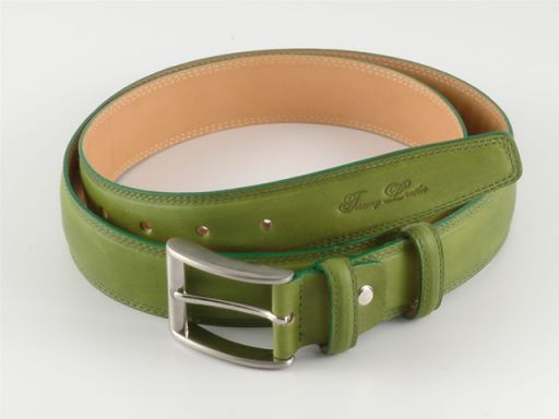 Esclusiva cintura in pelle Verde TL140321
