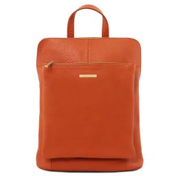 TL Bag Soft leather backpack for women Brandy TL141682