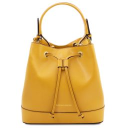 Minerva Leather secchiello bag Yellow TL142050