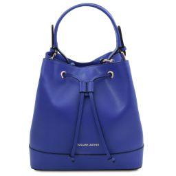 Minerva Leather secchiello bag Blue TL142050