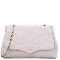 TL Bag Bolso en piel suave con bandolera Blanco TL142004