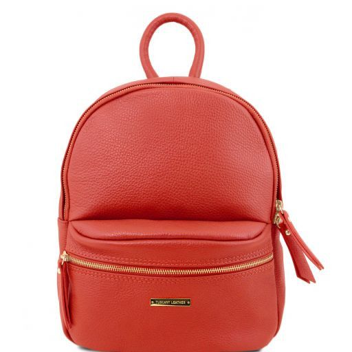 TL Bag Zaino donna in pelle morbida Rosso TL141532