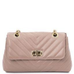 TL Bag Soft leather shoulder bag Ballet Pink TL142015