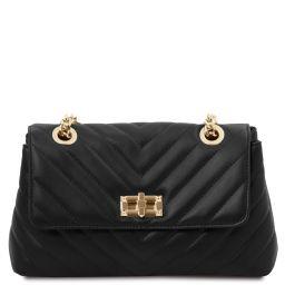 TL Bag Bolso en piel suave con bandolera Negro TL142015