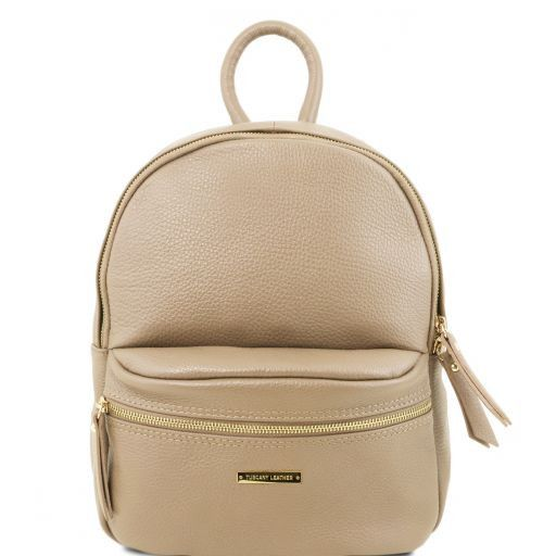 TL Bag Soft leather backpack for women Light Taupe TL141532