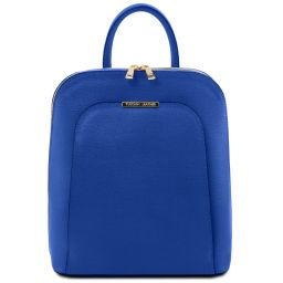 TL Bag Saffiano leather backpack for women Blue TL141631