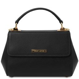 TL Bag Leather handbag - Small size Black TL142076