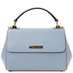 TL Bag Leather handbag - Small size Light Blue TL142076