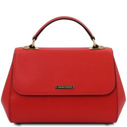 TL Bag Leather handbag - Large size Lipstick Red TL142077