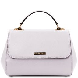 TL Bag Leather handbag - Large size White TL142077