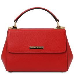 TL Bag Leather handbag - Small size Lipstick Red TL142076
