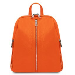 TL Bag Zaino donna in pelle morbida Arancio TL141982
