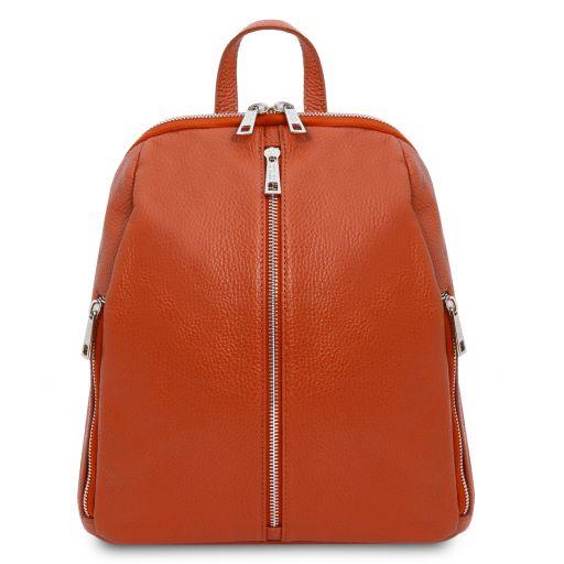 TL Bag Lederrucksack für Damen aus weichem Leder Brandy TL141982
