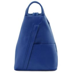 Shanghai Leather backpack Blue TL141881
