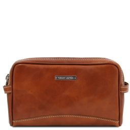 Igor Leather toilet bag Honey TL140850