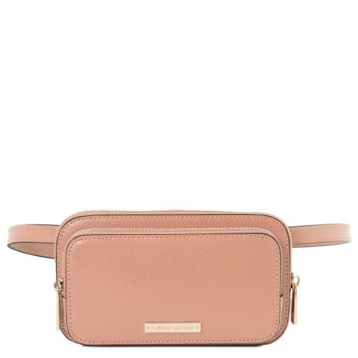 TL Bag Leather fanny pack Nude TL141999