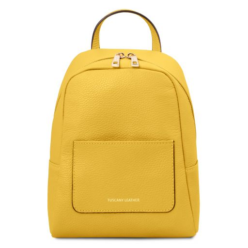 TL Bag Petite sac à dos en cuir souple pour femme Jaune TL142052