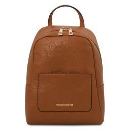 TL Bag Mochila pequeño en piel suave para mujer Cognac TL142052