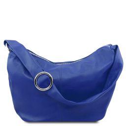 Yvette Soft leather hobo bag Blue TL140900