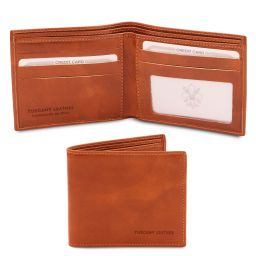 Exclusive 2 fold leather wallet for men Honey TL142056