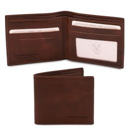 Esclusivo portafoglio uomo in pelle 2 ante Testa di Moro TL142056