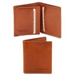 Esclusivo portafoglio uomo in pelle 3 ante Miele TL142057
