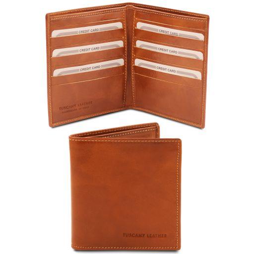 Эксклюзивный кожаный бумажник двойного сложения для мужчин Мед TL142060