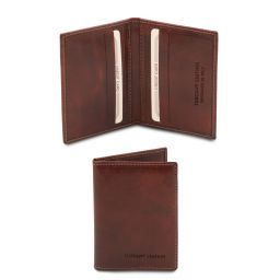 Esclusivo portacarte in pelle Marrone TL142063