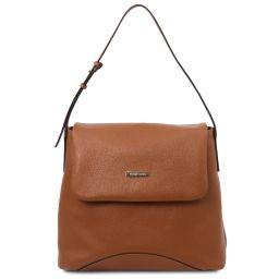 TL Bag Soft leather shoulder bag Коньяк TL142082