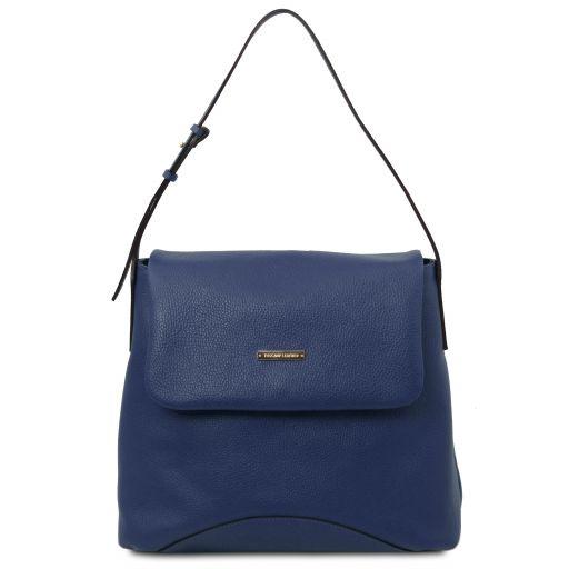 TL Bag Soft leather shoulder bag Dark Blue TL142082