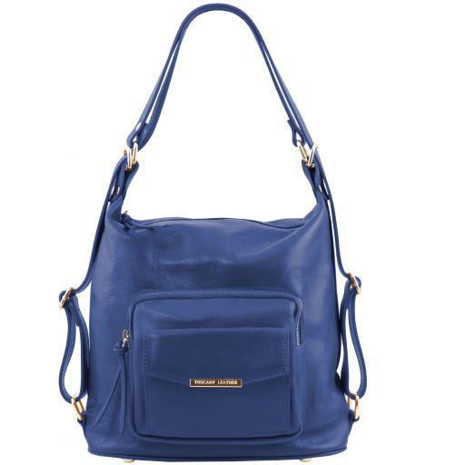 TL Bag Bolso de señora en piel convertible en mochila Azul TL141535