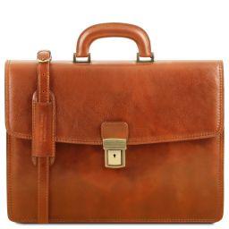 Amalfi Cartable en cuir avec 1 compartiment Miel TL141351
