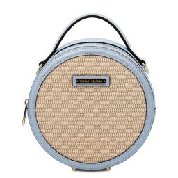 Thelma Straw effect round bag Светло-голубой TL142090