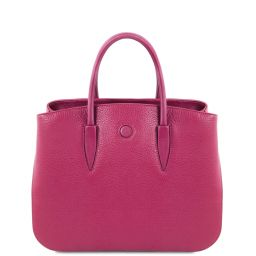 Camelia Leather handbag Fuchsia TL141728