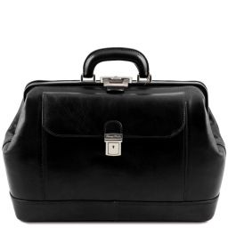 Leonardo Exclusive leather doctor bag Black TL142072
