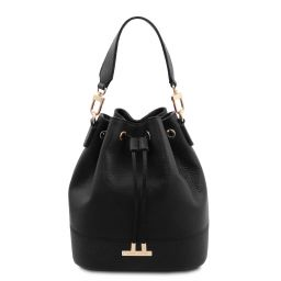 TL Bag Borsa secchiello in pelle Nero TL142083