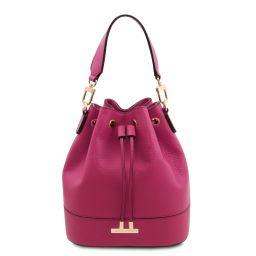 TL Bag Sac secchiello pour femme en cuir Fuchsia TL142083