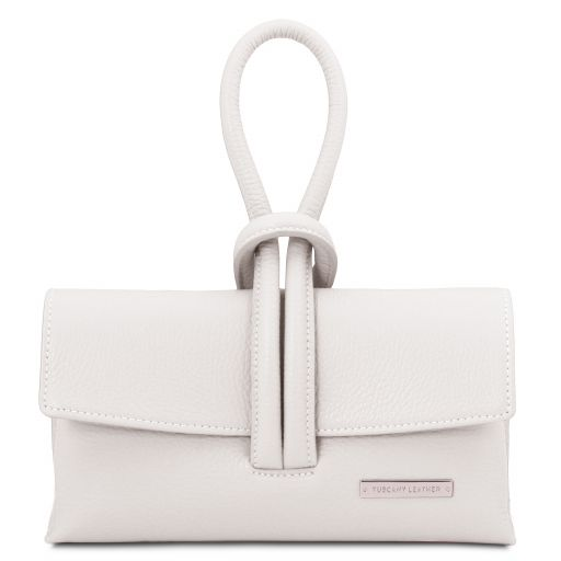 TL Bag Leather clutch White TL141990