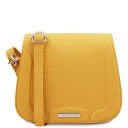 Jasmine Schultertasche aus Leder Gelb TL141968