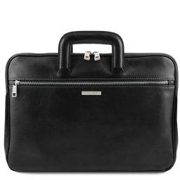 Caserta Document Leather briefcase Black TL142070